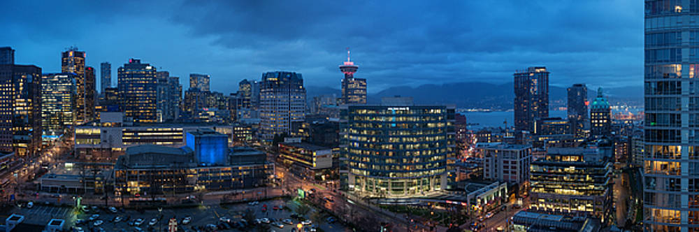 Vancouver Panorama- Beaty and Dunsmuir by Mohsen Kamalzadeh