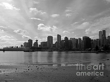 Connie Fox - Vancouver Skyline 2015 at Stanley Park II BW