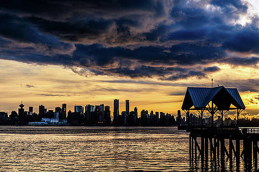 Vancouver Skyline Canada Sunset by Mark Duffy