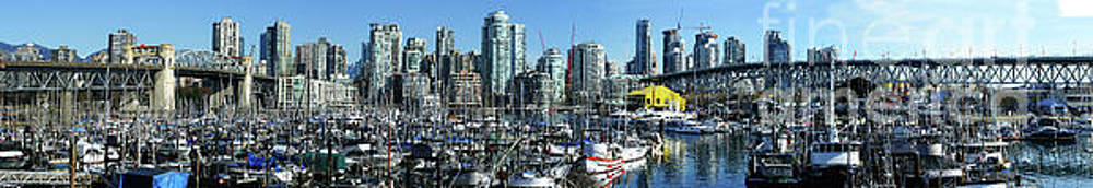 Vancouver Skyline Panoramic by Randy Harris