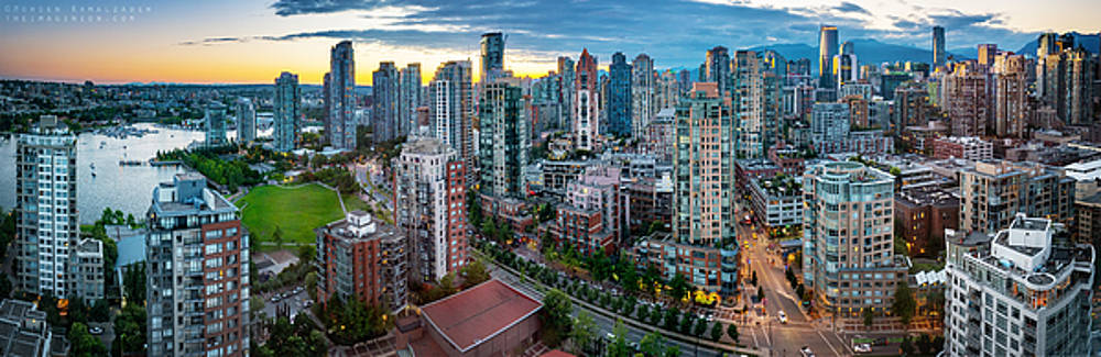 Vancouver Sunset Panorama by Mohsen Kamalzadeh