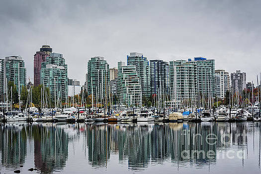 Vancouver waterfront marina by Anna Wisniewska