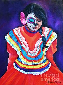 Vanessa in Orange by Barbara  Rivera