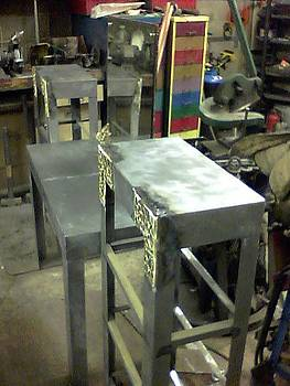 Vanity with Shelves Prototype by Don Thibodeaux