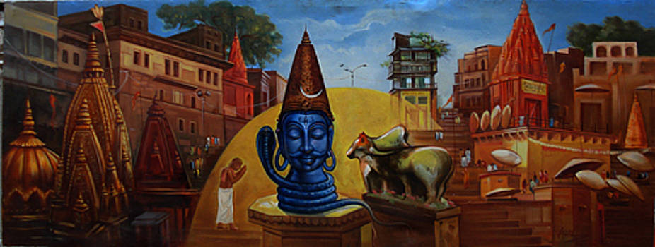 Varanasi ghats by Anil Kumar