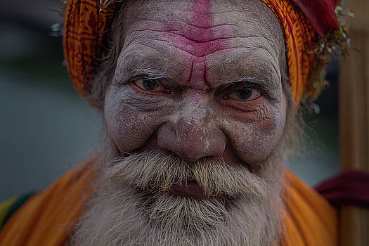 Varanasi Hoy man 2 by David Longstreath
