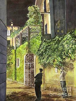 Varenna Evening Stroll by Carol Flagg