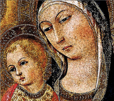 Variation of The Madonna and Child with Saints and Angels by Sano di Pietro by David Griffith