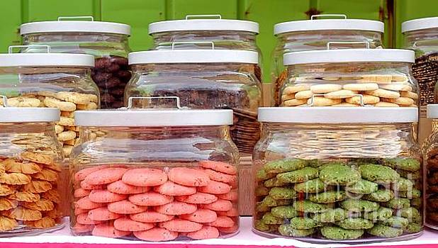 Various Cookies in Glass Jars by Yali Shi