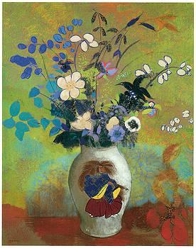 Odilon Redon - Vase au Guerrier Japonais