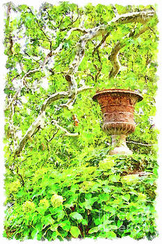 Vase in the green by Giuseppe Cocco
