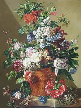 Vase of Flowers 1722 by karya Jan van Huysum by William Roberts