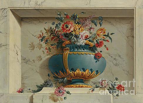 Michel Bruno Bellenge - Vase of Flowers in a Niche