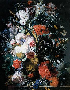Jan Van Huysum - Vase of Flowers