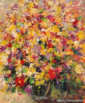 Vase of flowers by Mario Zampedroni