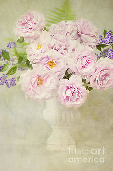 Vase of Pink Roses by Susan Gary