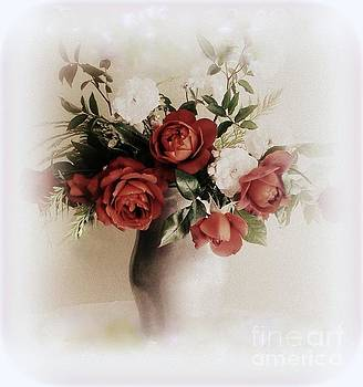 Vase of Red Roses by Diana Besser