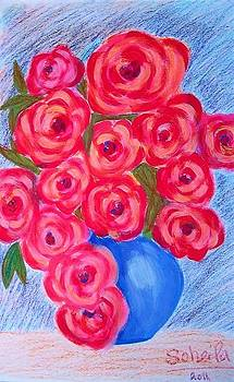 Vase of Roses by Soheila Madani
