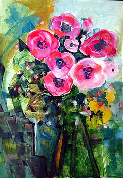 Vase Of Roses by Therese AbouNader
