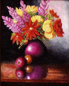 Vase with flowers by Gene Gregory