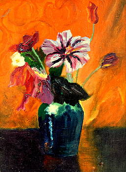 Vase with flowers by Henryk Gorecki
