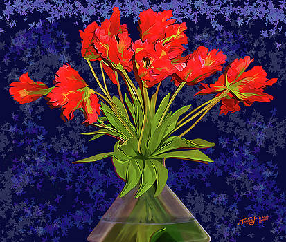 Vase with Flowers by James  Mingo