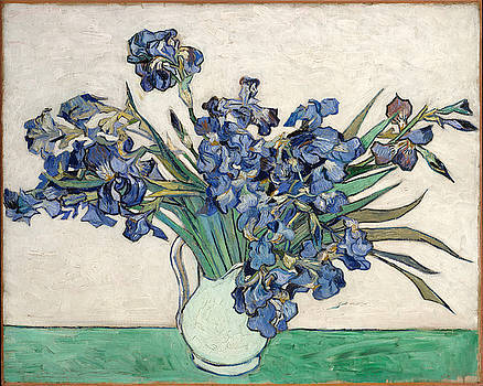 Vase With Irises by Van Gogh