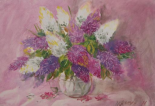 Vase With  Lilac, by Khromykh Natalia
