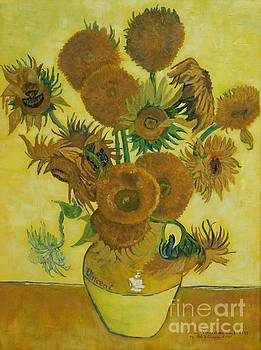 Vase withFifteen Sunflowers by Bob Williams