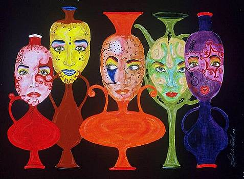 Vases with Faces by Shellton Tremble