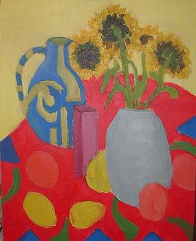 Vases with Sunflowers by Bernard Victor