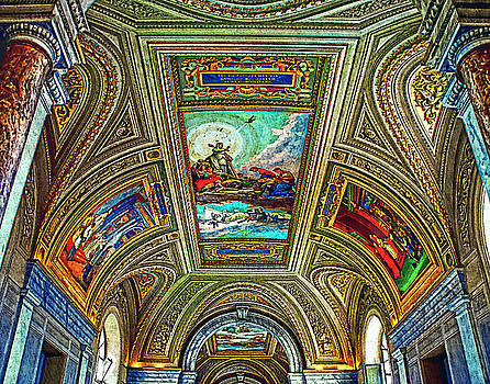 Vatican Museum Religion Ceiling Art Painting by Andres Ramos