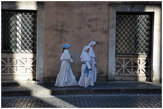 Vatican Nun Trio  by Eric  Bjerke Sr