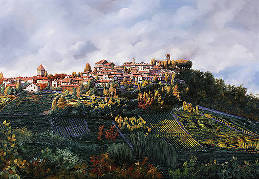 veduta di Verduno by Guido Borelli