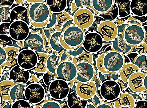 Vegas Golden Knights Poker Chips Illustration by Ricky Barnard