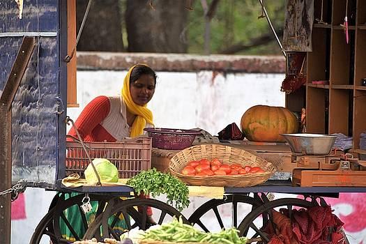 Vegetable Vendor - Rishikesh India by Kim Bemis