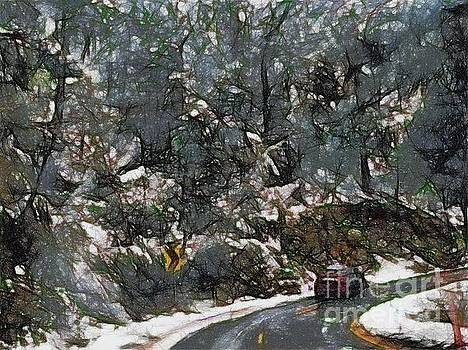 Vehicle in icy conditions by Ashish Agarwal