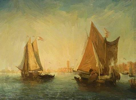 Webb James - Venetian Canal Scene