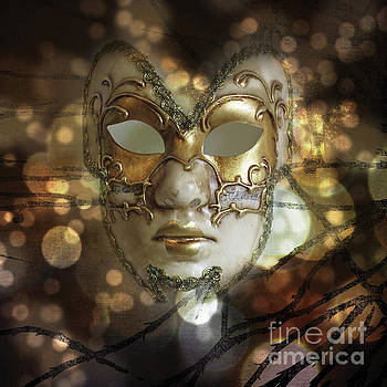 Venetian Golden Mask by Barbara Dudzinska
