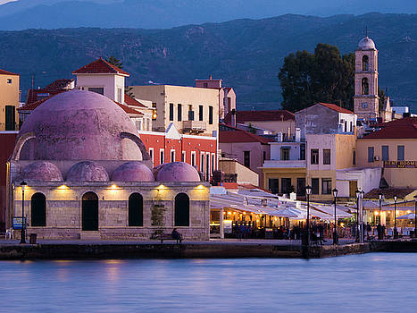 Venetian Harbour in Chania by Rae Tucker
