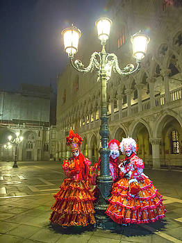 Venetian Ladies in San Marcos Square by Cheryl Strahl