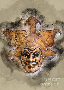 Venetian Mask-9 by Barbara Dudzinska