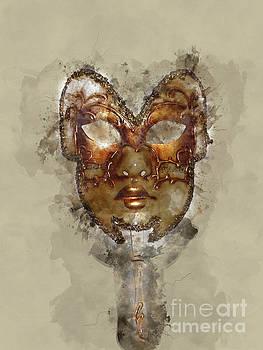 Venetian Mask-5 by Barbara Dudzinska
