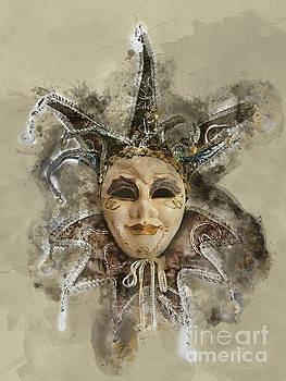 Venetian Mask-6 by Barbara Dudzinska
