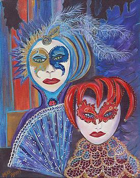 Venetian Masks by Mikki Alhart