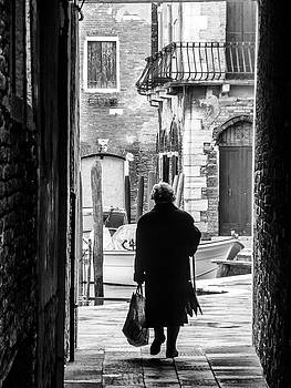 Venetian Silhoutte Lady by Paul Warburton