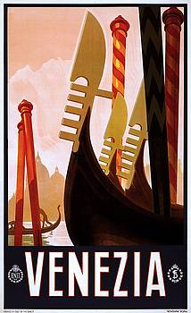Venezia Italy, travel poster for ENIT, ca. 1920 by Vintage Printery