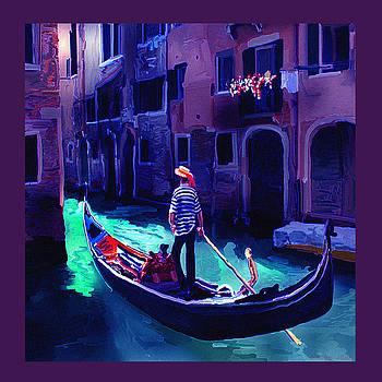 Venice 3 Gondola by Dyana  Jean