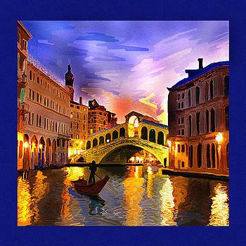Venice 4 Gondola by Dyana  Jean
