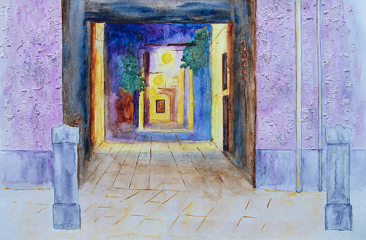 Patricia Beebe - Venice Alley At Night
